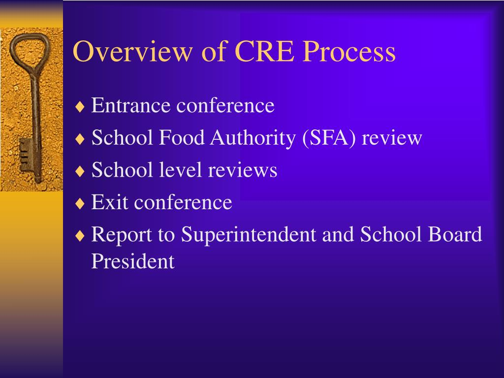 Overview of CRE Process