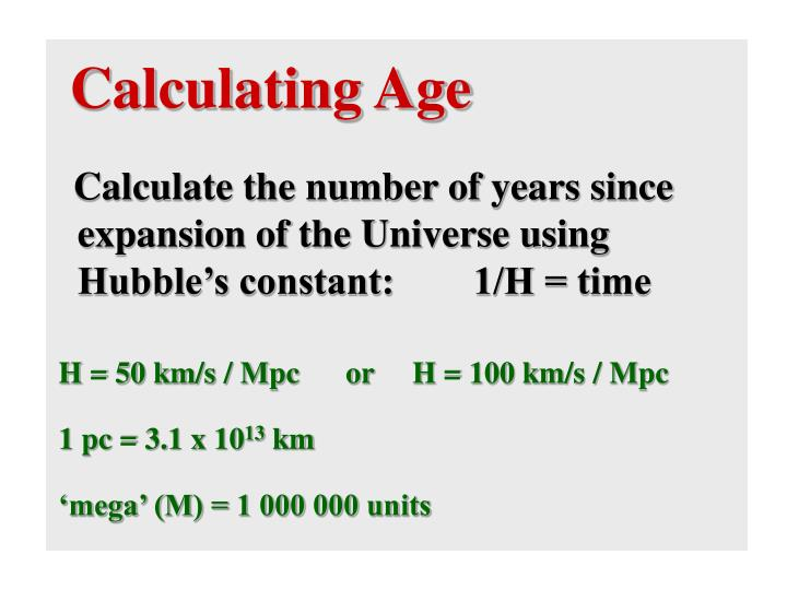 Calculating Age