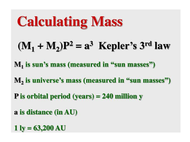 Calculating Mass