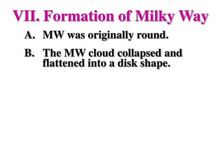 Formation of Milky Way