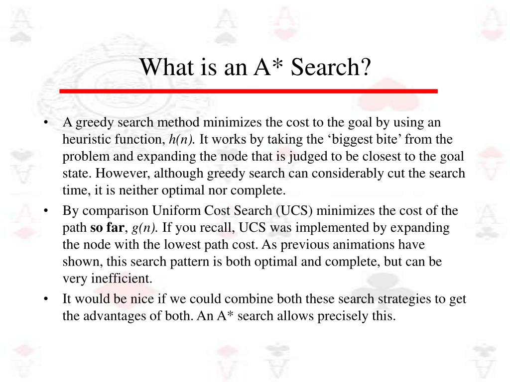 What is an A* Search?