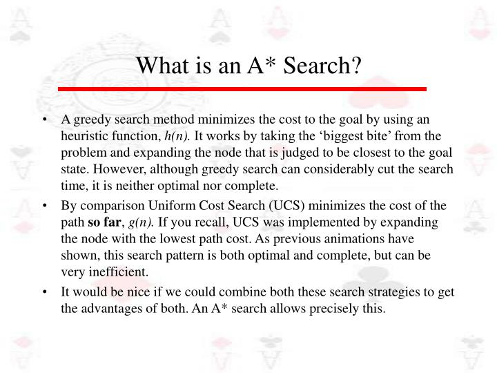 What is an a search