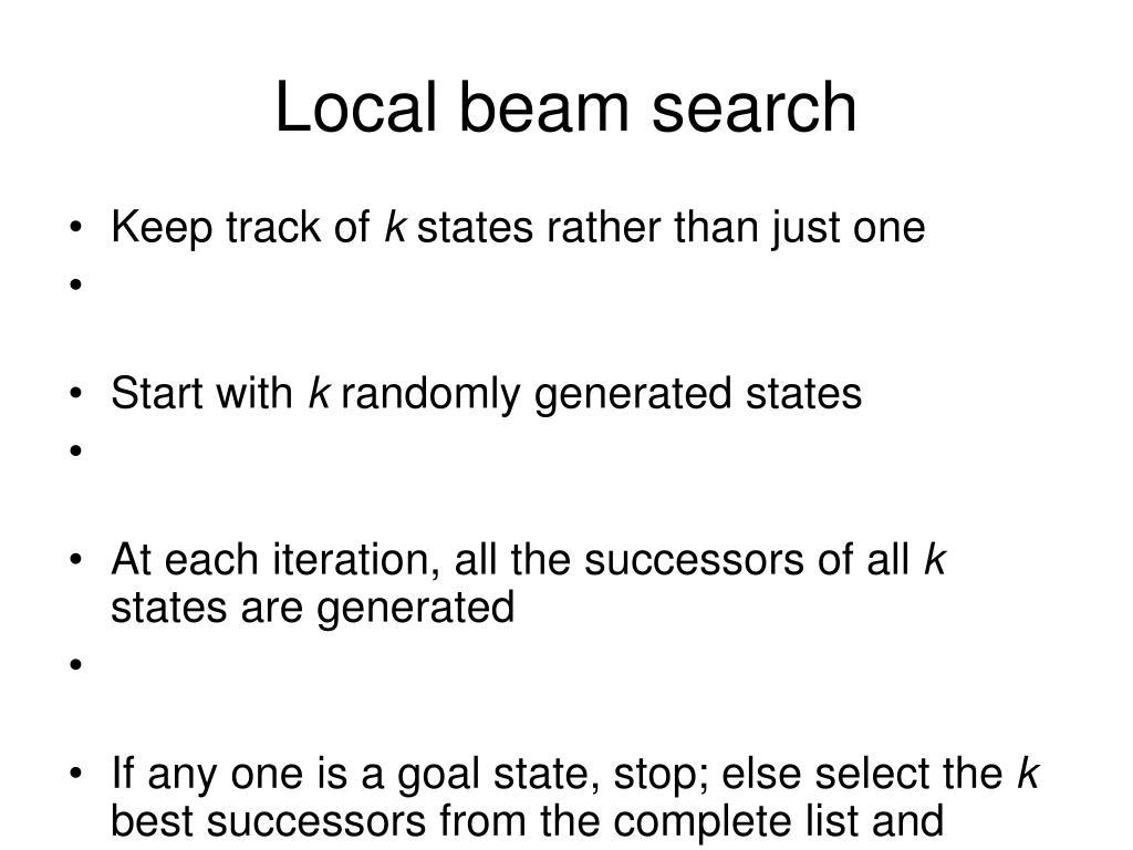 Local beam search