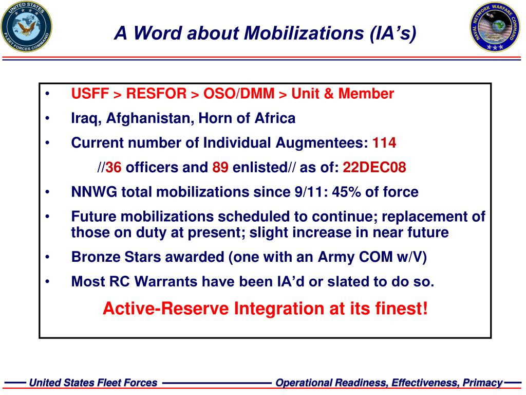 A Word about Mobilizations (IA's)