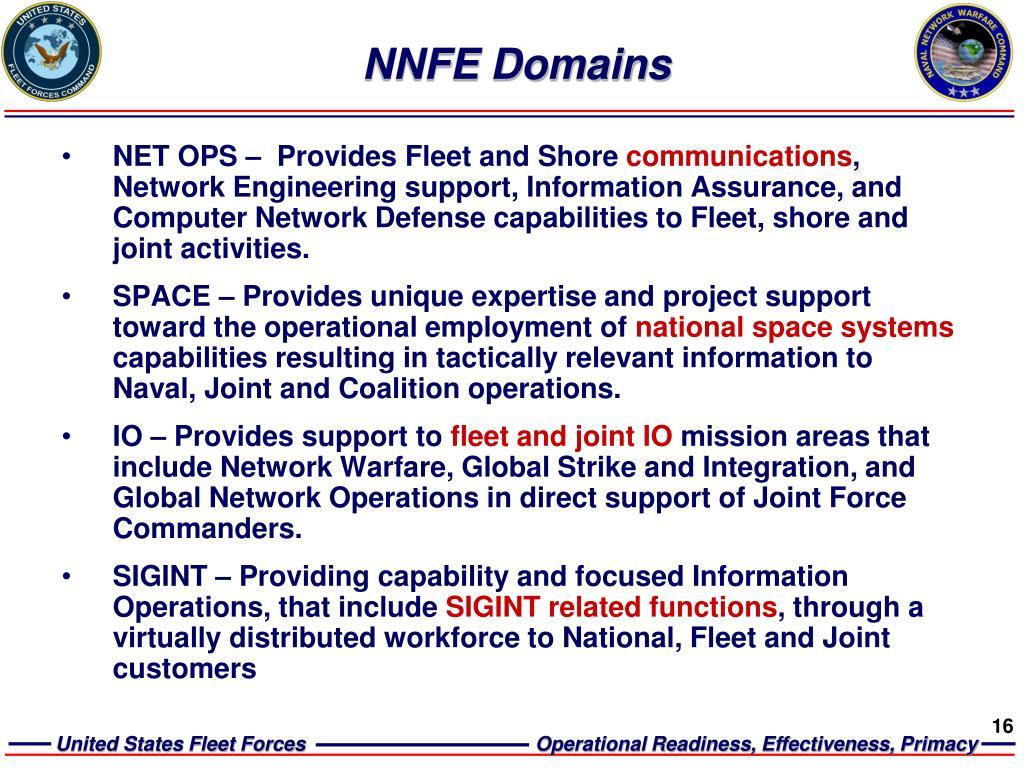 NNFE Domains