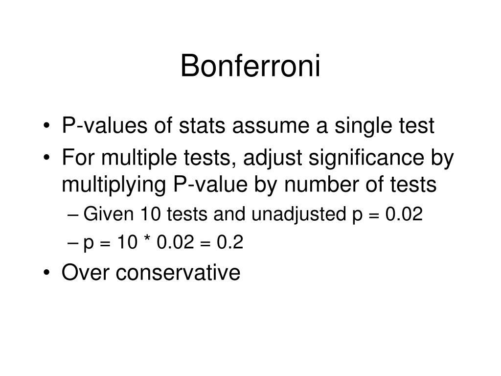Bonferroni