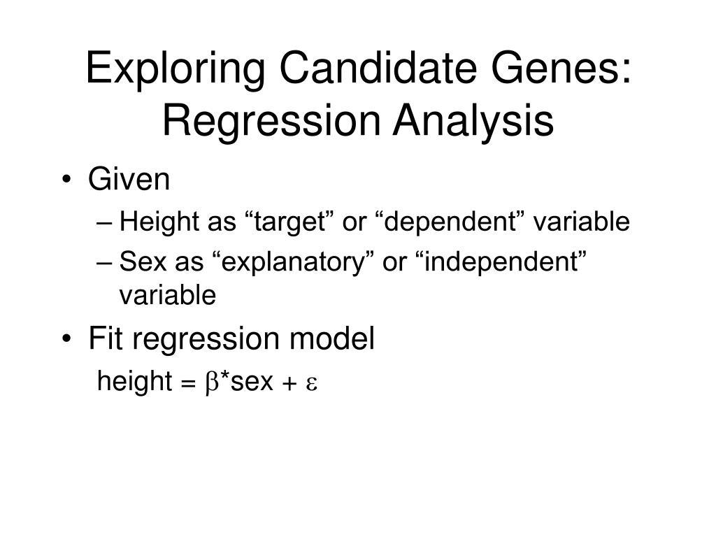 Exploring Candidate Genes: