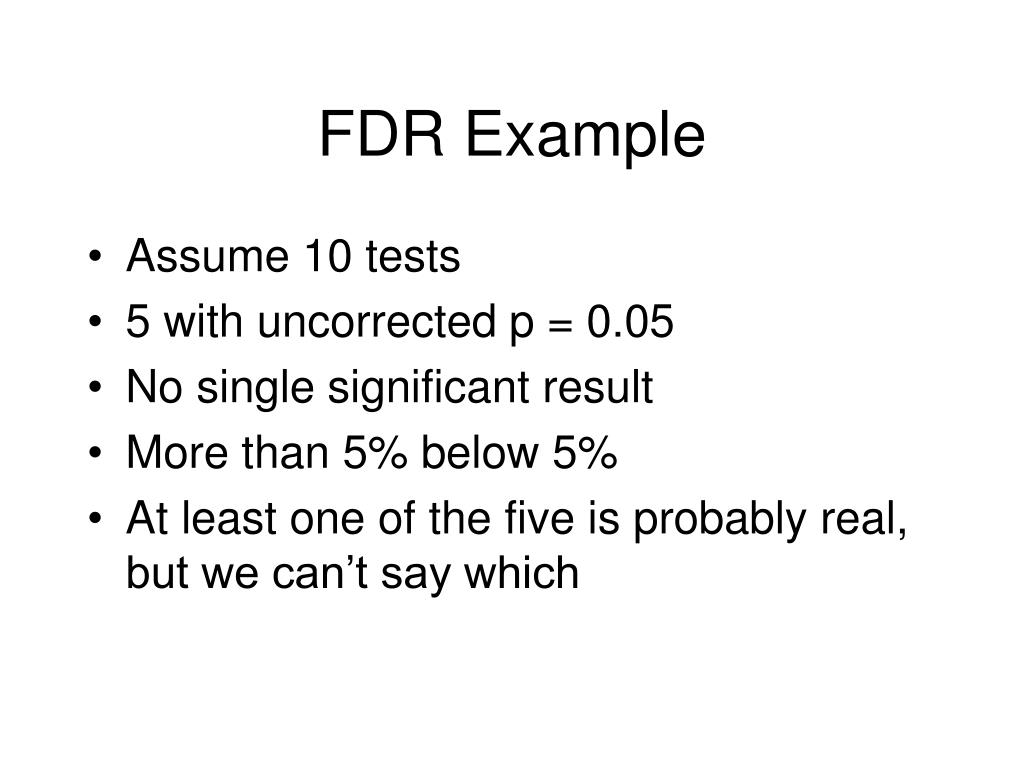 FDR Example