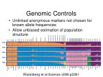 genomic controls