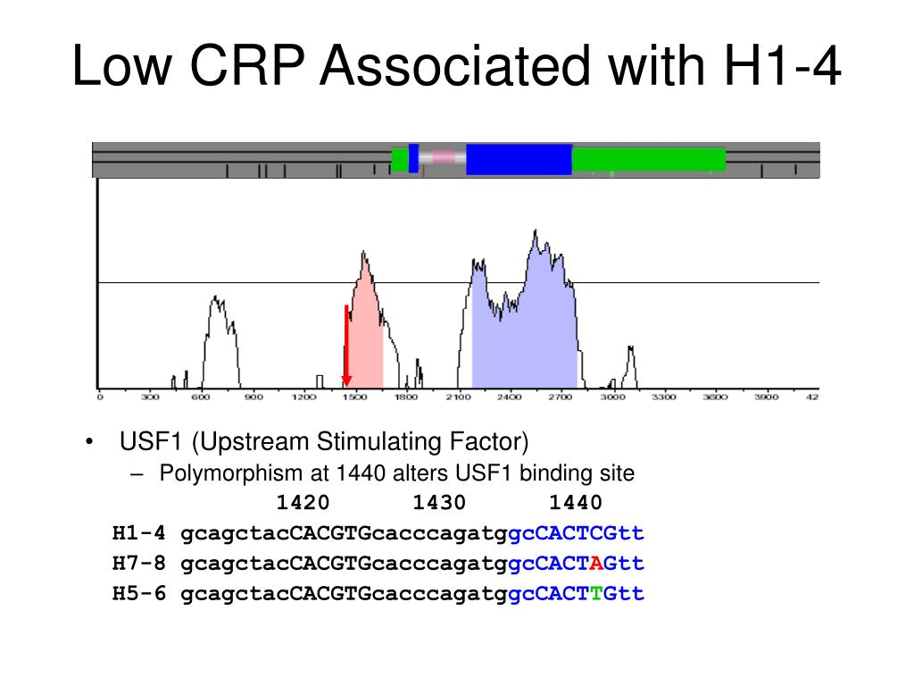 Low CRP Associated with H1-4