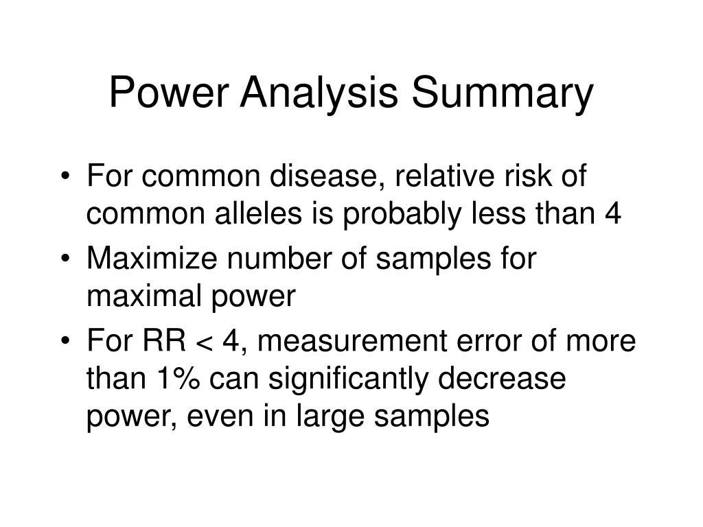 Power Analysis Summary