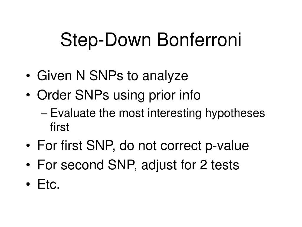 Step-Down Bonferroni