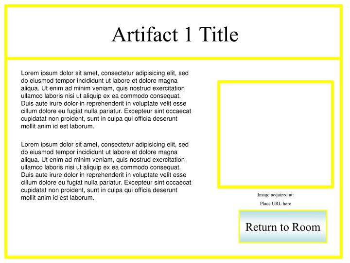 Artifact 1 Title