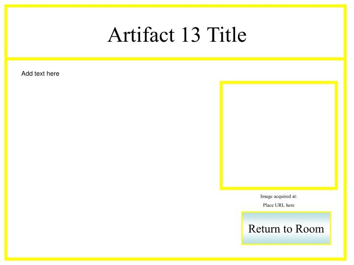 Artifact 13 Title