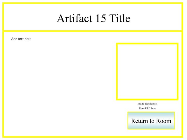 Artifact 15 Title