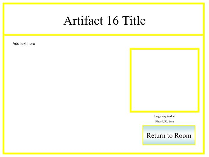 Artifact 16 Title