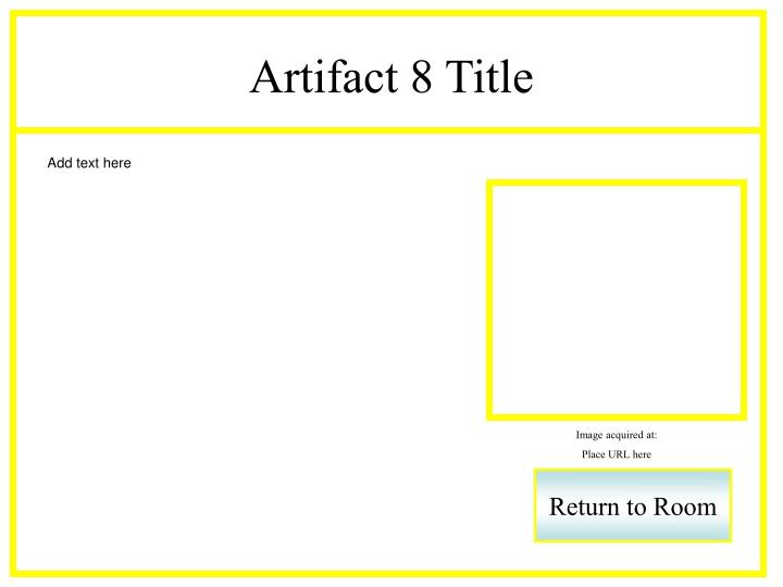 Artifact 8 Title