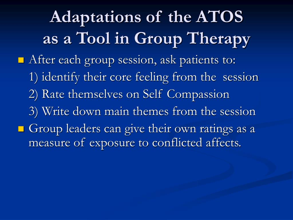 Adaptations of the ATOS