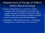 adaptiveness of image of others other restructuring