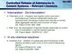 controlled release of admixtures in cement systems relevant literature8