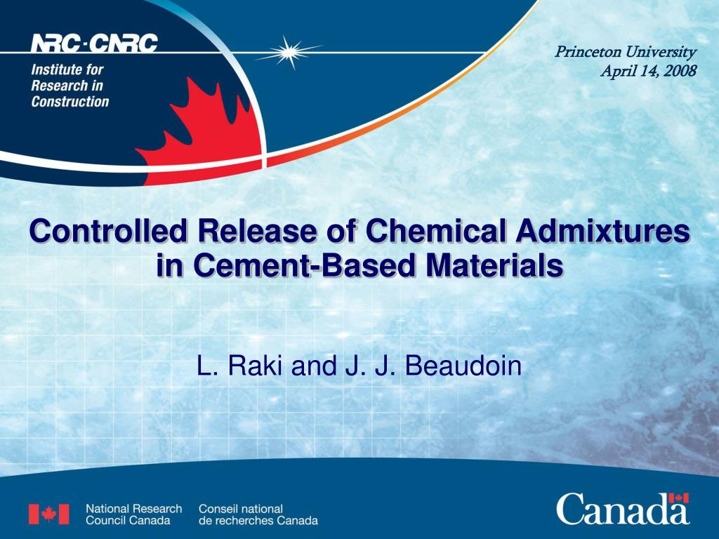 controlled release of chemical admixtures in cement based materials