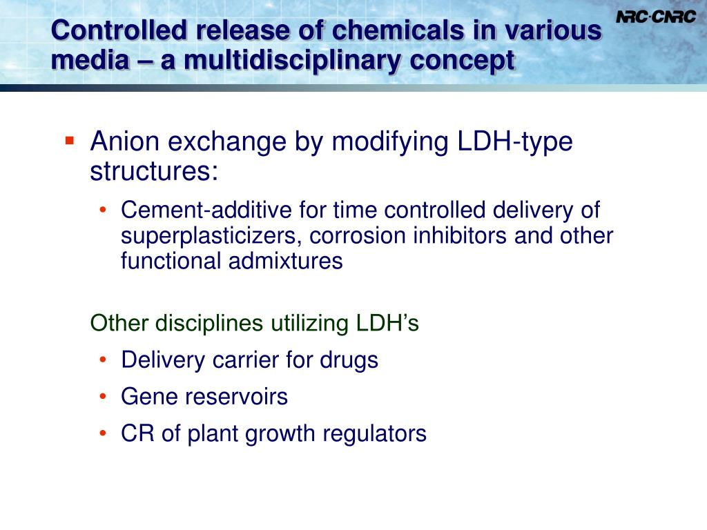 Controlled release of chemicals in various media – a multidisciplinary concept