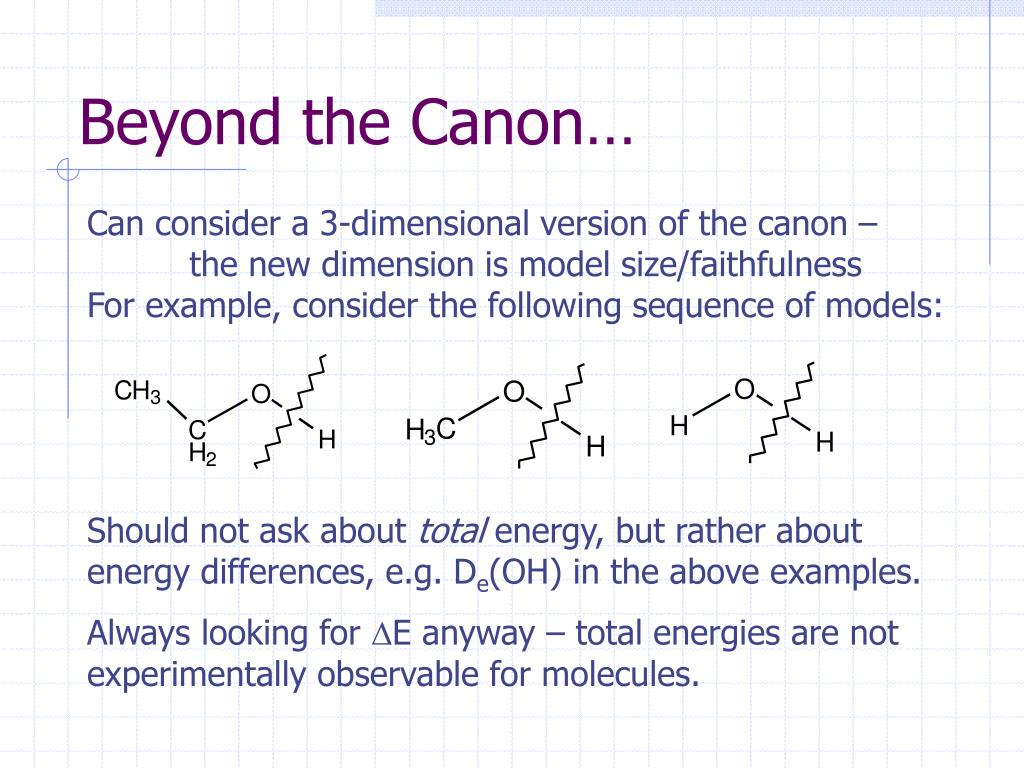 Beyond the Canon…