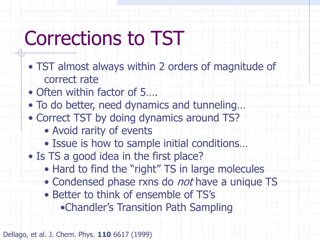 Corrections to TST