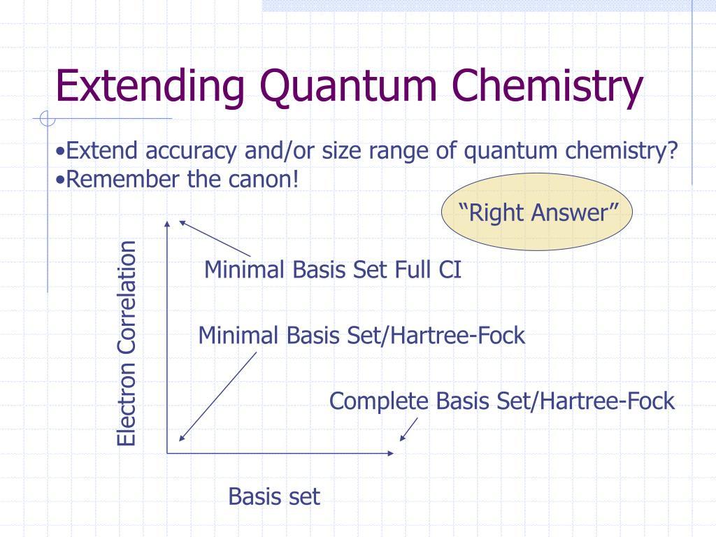 Extending Quantum Chemistry