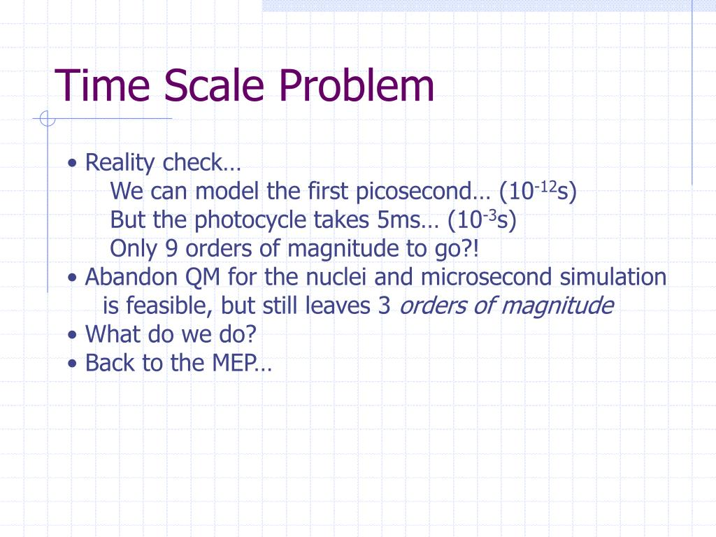Time Scale Problem