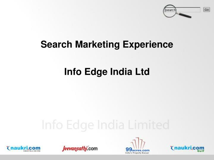 Search Marketing Experience