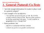 beck et al s textual context categories 3 general natural co texts