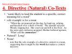 beck et al s textual context categories 4 directive natural co texts