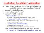contextual vocabulary acquisition