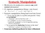 syntactic manipulation