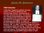 james h johnston