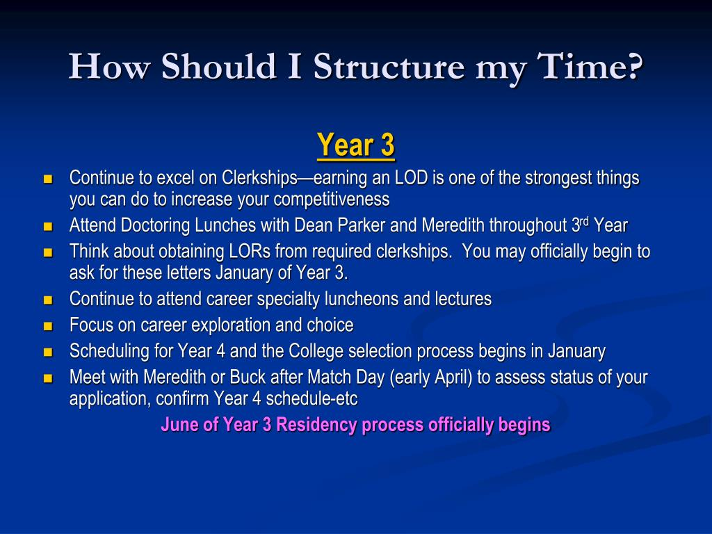 How Should I Structure my Time?