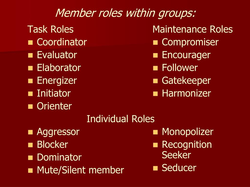 Task Roles