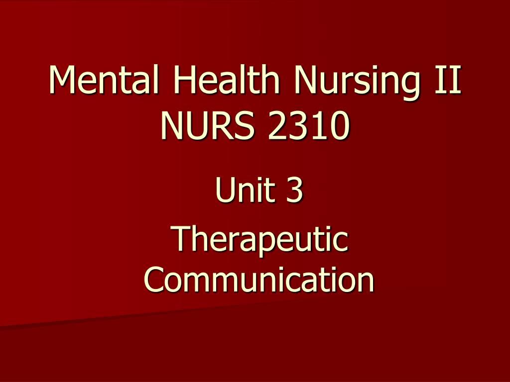 Mental Health Nursing II