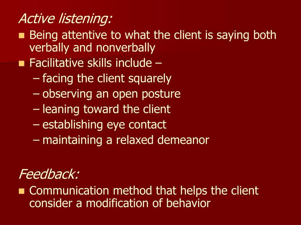 Active listening: