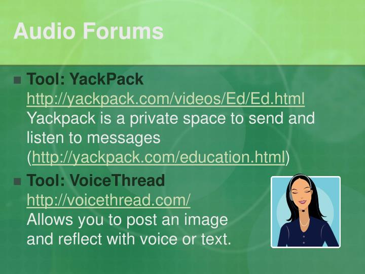 Audio Forums