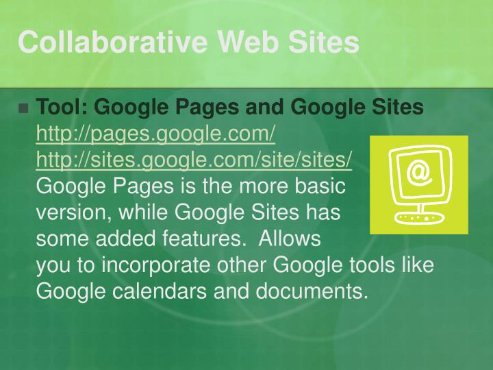 Collaborative Web Sites