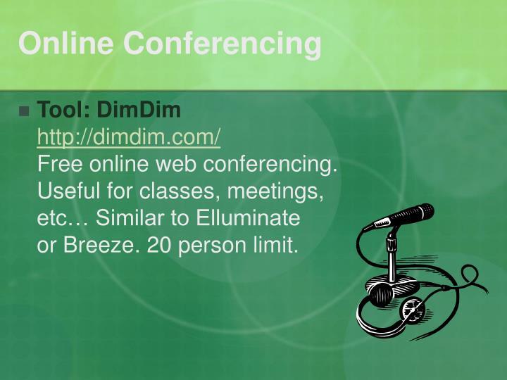 Online Conferencing