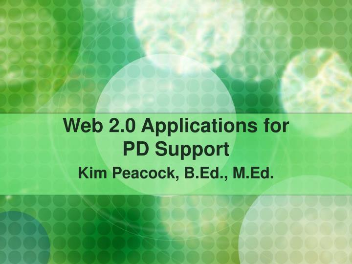 web 2 0 applications for pd support