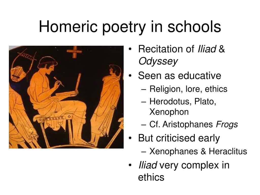 Homeric poetry in schools