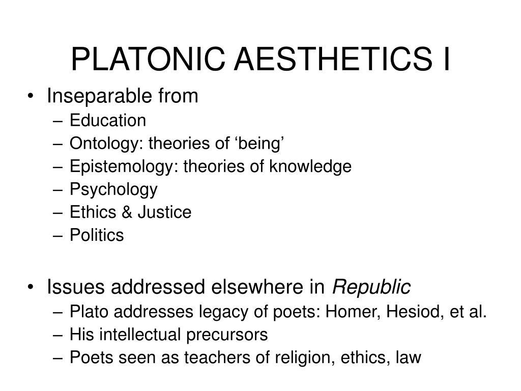 PLATONIC AESTHETICS I