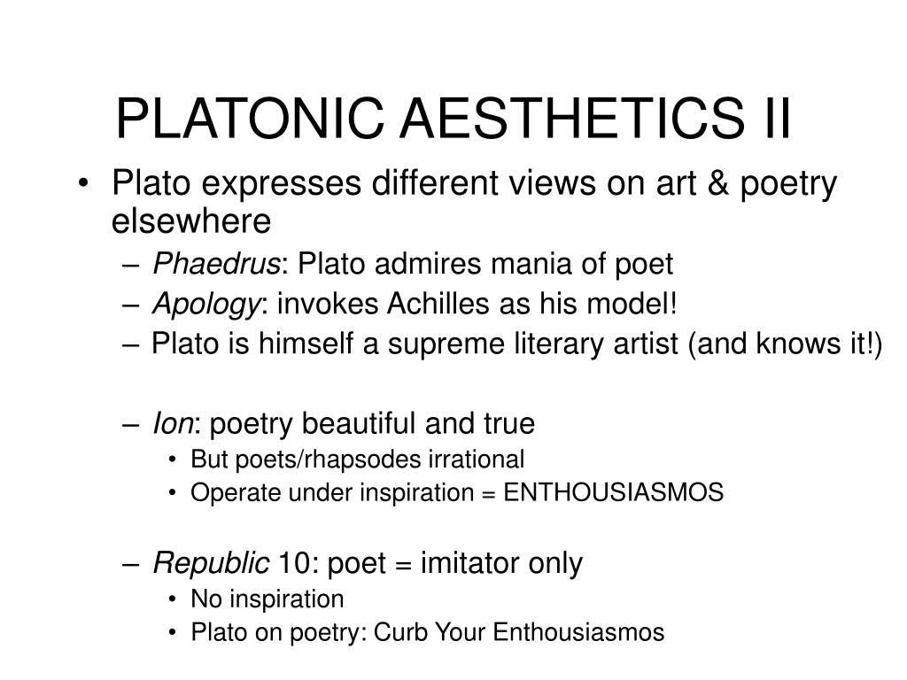 PLATONIC AESTHETICS II
