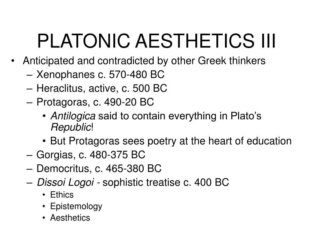 PLATONIC AESTHETICS III