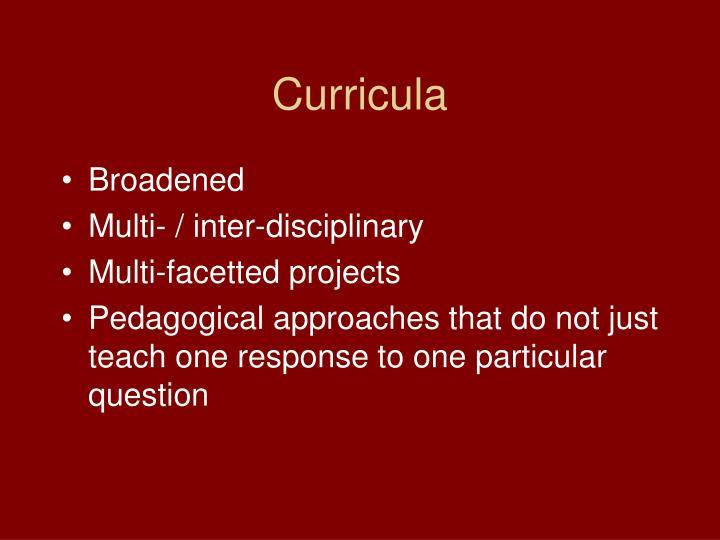 Curricula