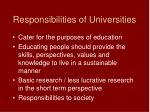 responsibilities of universities